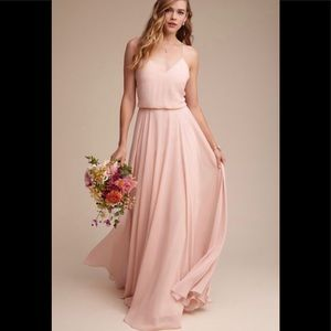 BHLDN Jenny Yoo Inesse Blush Pink Bridesmaid Dress